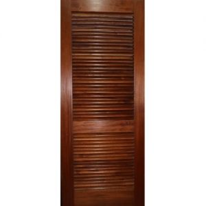 Louvered Solid Panel Door